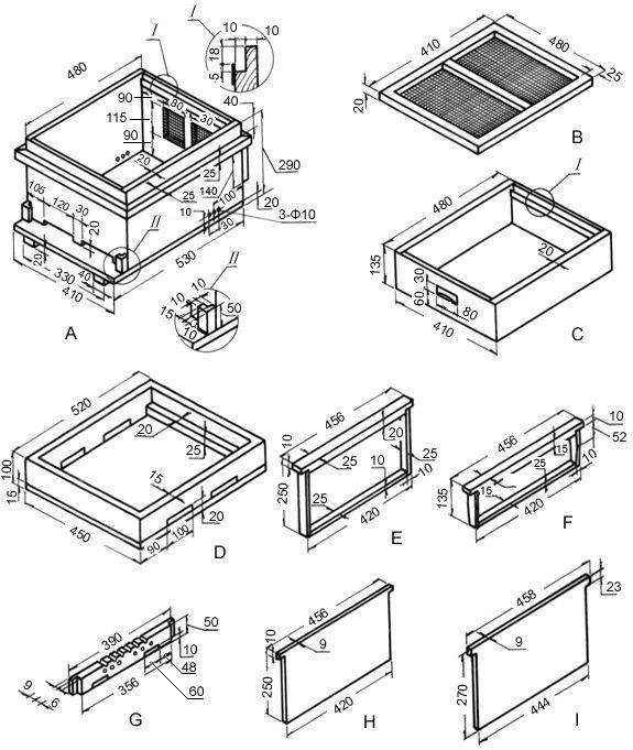 中华蜜蜂十框蜂箱
