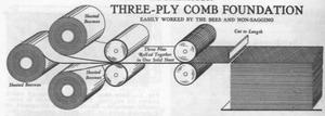 养蜂工具-巢础发展历史